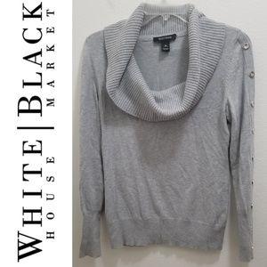 WHITE HOUSE l BLACK MARKET Gray Sweater